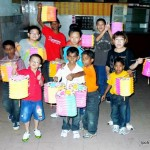 Children from Praise Boys Home with their lanterns