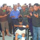 Zambry Greets Injured Police Personnel