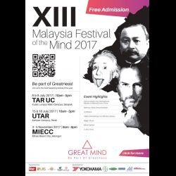 13th Malaysia Festival of the Mind 2017 (15-16 Jul 2017)