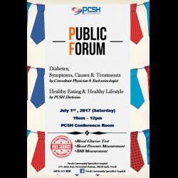Public Forum: Diabetes (1 Jul 2017)