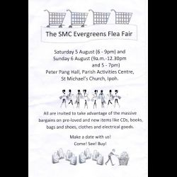 SMC Evergreens Flea Fair (5 & 6 Aug 2017)