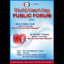 KPJ ISH World Heart Day Public Forum (30 Sep 2017)