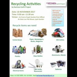 Let's Recycle for Greener Earth (4th Sunday of every month)