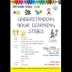 Fatimah Kids Club Workshop: 'Understanding Your Learning Styles' (25 Nov 2017)