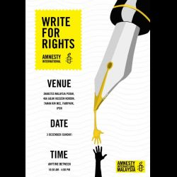 Amnesty International: Write for Rights (3 Dec 2017)