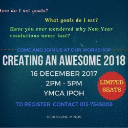 Workshop: Creating an Awesome 2018 (16 Dec 2017)