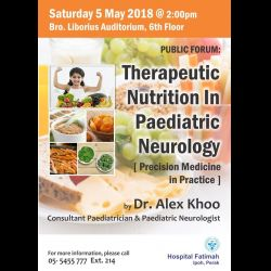 Public Forum: Therapeutic Nutrition in Paediatric Neurology (5 May 2018)