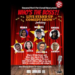 'Who's the Boss?' - Live Stand Up Comedy Show (30 Mar 2019)