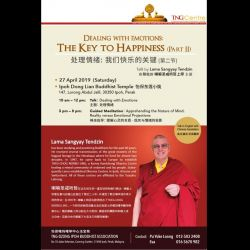 Dealing with Emotions: The Key to Happiness (Part II) (27 Apr 2019)