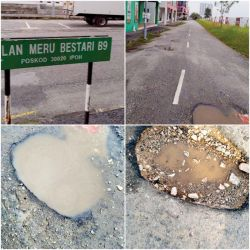 Thumbs Down: Fed Up with Potholes