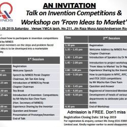 Talk on Invention Competitions & Workshop From Ideas to Market (21 Sep 2019)