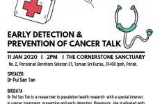 Photo of Early Detection and Prevention of Cancer Talk (11 Jan 2020)