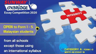 Photo of Sunway-Oxbridge Essay Competition (12 Feb – 11 Mar 2020)