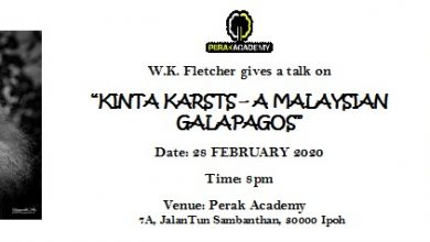 "Photo of Perak Academy Talk: """"Kinta Karsts – A Malaysian Galapagos"" (28 Feb 2020)"