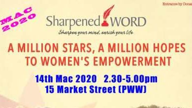 Photo of Sharpened Word: A Million Hopes to Women's Empowerment (14 Mar 2020)