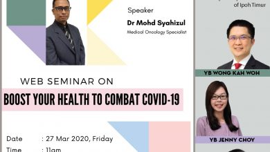 Photo of Web Seminar: 'Boost Your Health To Combat Covid-19' (27 Mar 2020)