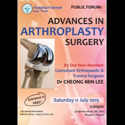 Public Forum: Advances in Arthroplasty Surgery (11 Jul 2015)