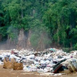 Rubbish dump at Gunung Lanno
