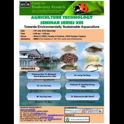 Agriculture Technology Seminar Series XIII � �Towards Environmentally Sustainable Aquaculture� (16 J