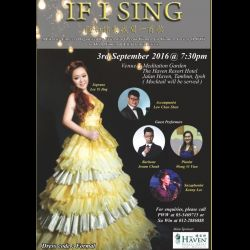 PWW Fundraising Concert: �If I Sing' (3 Sep 2016)