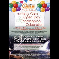 Ladang Care Open Day & Thanksgiving Celebration (22 Oct 2016)