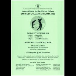 Inaugural Dato' Bro. Vincent Corkery SMI Golf Challenge Trophy (25 Sep 2016)