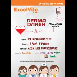Blood Donation Campaign at Aeon Mall Ipoh Klebang (24 Sep 2016)