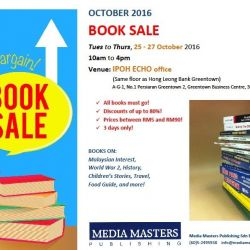 Book Sale (25-27 Oct 2016)