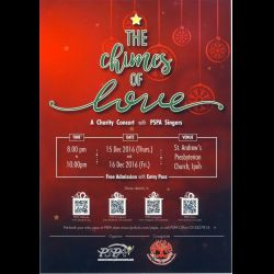 Charity Concert with PSPA Singers: 'The Chimes of Love' (15 & 16 Dec 2016)