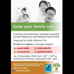 Family Wellness Club Family Safety Workshop (26 Nov 2016)