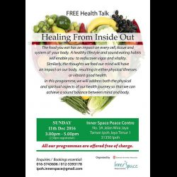 Health Talk: 'Healing from Inside Out' (11 Dec 2016)
