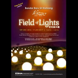 Field of Lights: Shining a Bright Light on Bandar Baru Sri Klebang (18 Dec 2016 - 1 Jan 2017)