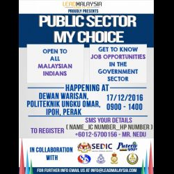 'Public Sector My Choice' is coming to Ipoh (17 Dec 2016)