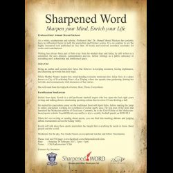 Sharpened Word February Session (18 Feb 2017)