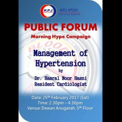 Public Forum:  Morning Hype Campaign - Management of Hypertension