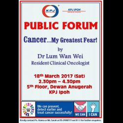 Public Forum: Cancer...My Greatest Fear (18 Mar 2017)