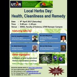 Local Herbs Day: Health, Cleanliness and Remedy (8 Apr 2017)