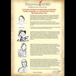 Sharpened Word: Cultural Diversity in Malaysian Literature (15 Apr 2017)