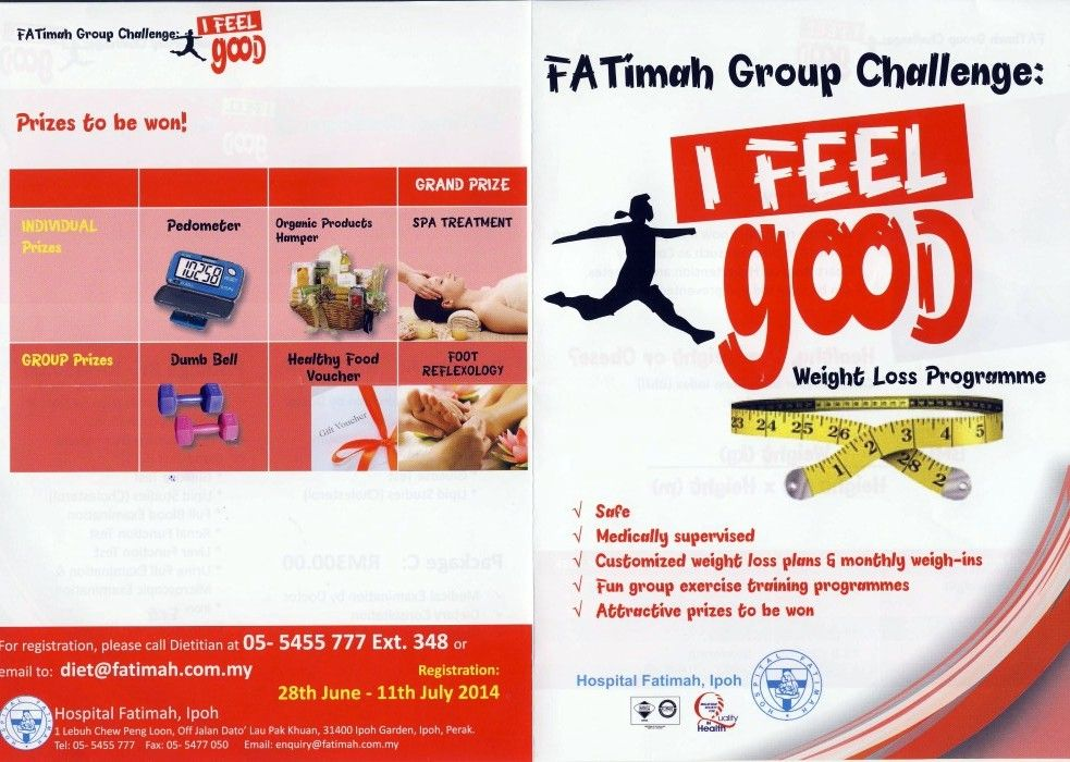 Fatimah Challenge: I Feel Good Weight Loss Programme
