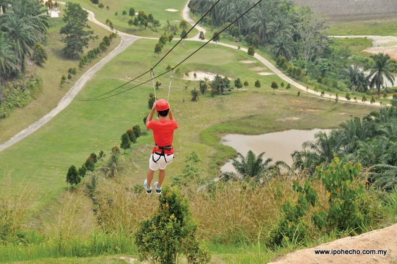 Flying Fox - Bukit Kinding Eco -Adventure Park