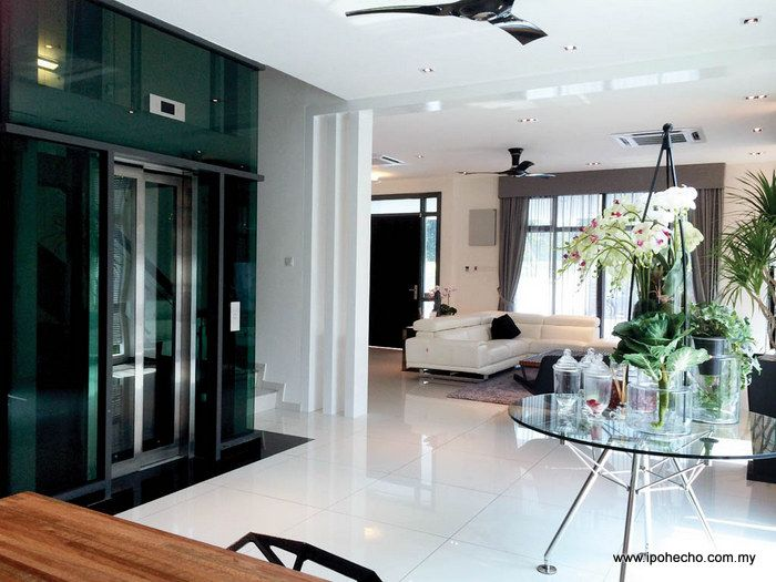 Private lift inside GolfView Residence