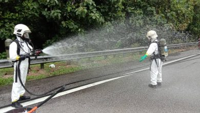 Photo of Chemical Leakage at Expressway