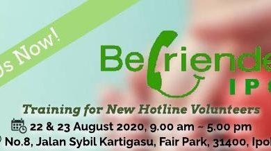 Photo of Befrienders Ipoh Training Class For New Volunteers (22 & 23 August 2020)