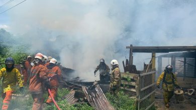 Photo of House on Fire, Resident on Edge