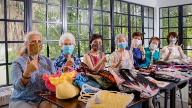Photo of Batik and Patchwork Face Masks for Charity