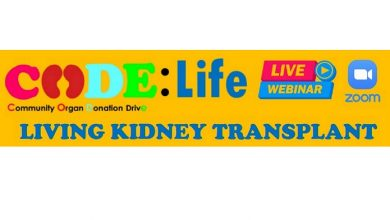 Photo of CODE: Life Webinar to Shine the Spotlight on Organ Transplant and Donation
