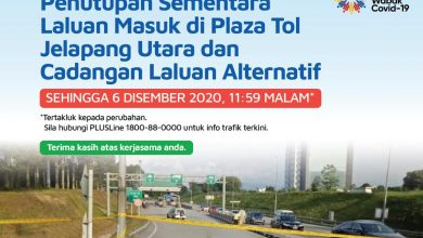 Photo of Temporary Closure of North Jelapang Toll Plaza