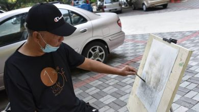Photo of Stroke Survivor Finds His Artistic Stroke