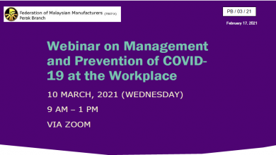 Photo of Management and Prevention of COVID-19 at the Workplace (10 Mar 2021)
