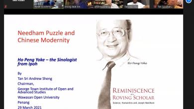 Photo of Ipoh-born Sinologist: The Late Professor Ho Peng Yoke